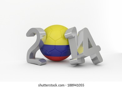 Colombia 2014 message on white background