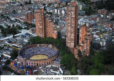 Bogotà Colombia city over view