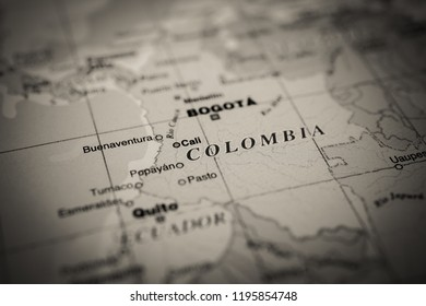 Colombia map background