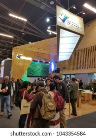 Bogotá, Colombia. march 09 - 2018, Corferias. The Technologic and industrial fair of furniture and wood also known as  Feria Tecnologica del mueble y la madera