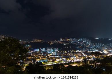 Medellín Colombia at night