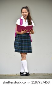 Colombian Girl Student Reading