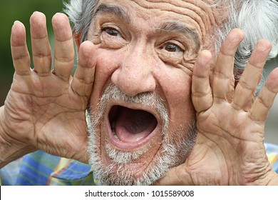 Colombian Grandpa Shouting