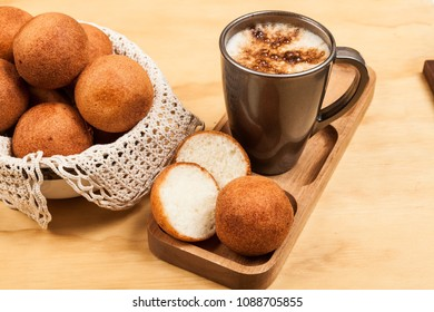 Buñuelos Colombian traditional food - Deep Fried Cheese Bread