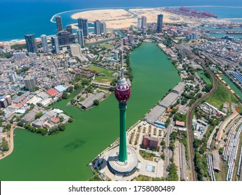 Colombo aerial view, Colombo, Sri Lanka from above,