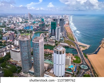 Colombo city, taken while flying
