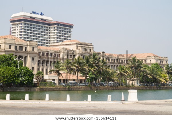 COLOMBO - MARCH13: Panorama of Fort district on the day of March 13, 2013 in Colombo, Sri Lanka. Colombo is the largest city and the commercial, industrial and cultural capital of Sri Lanka