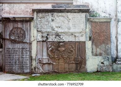 Colombo, Sri Lanka - 11 February 2017: Exterior of Wolvendaal Church - a Dutch Reformed Christian Colonial VOC Church