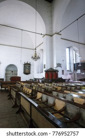 Colombo, Sri Lanka - 11 February 2017: Interior of Wolvendaal Church - a Dutch Reformed Christian Colonial VOC Church