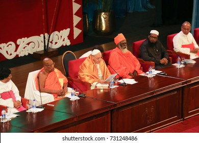 COLOMBO, Sri Lanka - 14 January 2015 : Pope Francis urges unity and reconciliation with Sri Lanka mosque in Colombo.