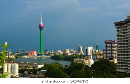 Colombo, Sri Lanka - Dec 23, 2018. Lotus Tower in Colombo, Sri Lanka. Colombo is the financial centre of the island and a popular tourist destination.