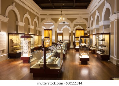COLOMBO, SRI LANKA - FEBRUARY 27, 2017: Exhibits inside the National Museum of Colombo, Sri Lanka. Sri Lanka National Museum is the largest museum in Sri Lanka.
