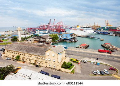 COLOMBO, SRI LANKA - FEBRUARY 28, 2017: The Port of Colombo is the largest and busiest port in capital of Sri Lanka. Located on the shores on the Kelani River in Colombo.