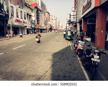 Colombo, Sri Lanka - JANUARY 13, 2017: City life in the central streets of the city