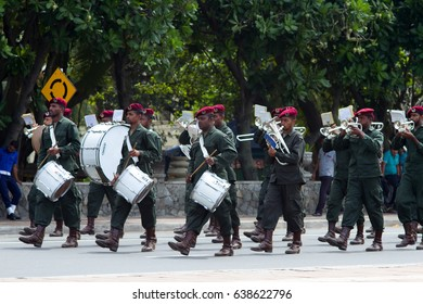 COLOMBO, SRI LANKA - JANUARY 30, 2016: Independence Day parade rehearsal on January 30, 2016 in   Colombo, Sri Lanka.