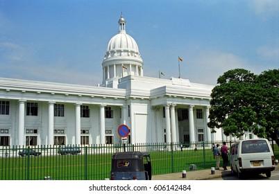 COLOMBO, SRI LANKA - JANUARY 31: City Hall at January 31, 2001 at Colombo, Sri Lanka. Colombo City Hall is in a nice colonial building.