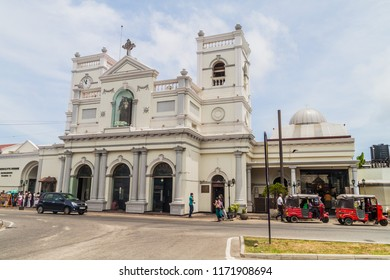 COLOMBO, SRI LANKA - JULY 26, 2016: View of St Anthony's church in Colombo, Sri Lanka