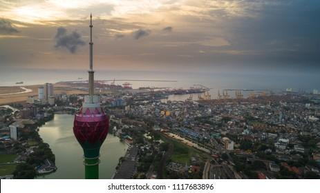 Colombo / Sri Lanka - June 20 2018:Lotus Tower