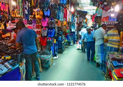 Colombo, Sri Lanka, March 29, 2018 - The bazaar section of the Federation of Self-Employees Market (FoSE Market) in the Pettah Market district, also known as Manning Market.