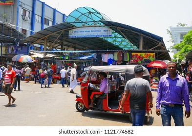 Colombo, Sri Lanka, March 29, 2018 - The bazaar section of the Federation of Self-Employees Market (FoSE Market) in the Pettah Market district. It's also known as Manning Market.