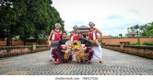 Colombo, Sri Lanka - Sep 8, 2015. Dancers of a folk show in Colombo, Sri Lanka. Colombo is the financial centre of the island and a popular tourist destination.