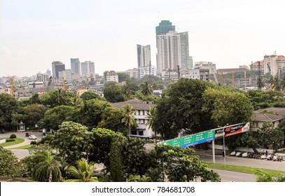 COLOMBO, SRI LANKA-NOV. 30, 2014:  Overlooking the capital and most populous city of this island nation formerly known as Ceylon.