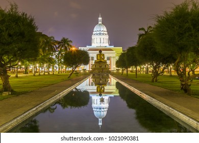 Colombo Town Hall Lit at Night