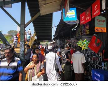 COLOMBO/SRI LANKA - FEBRUARY 16 2013: Streets and buildings of Colombo City in Sri Lanka. Southern Asia