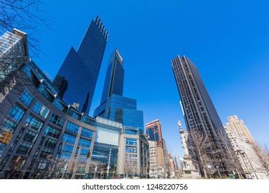 Colombus Circle Manhattan Landmarks New York City USA