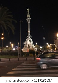Colombus monument in Barcelona