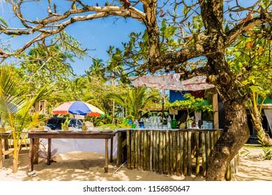 Colon Island, Bocas del Toro, Panama. An outdoor beach bar on Colon Island in Bocas Del Toro, Panama.