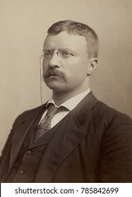 Colonel Theodore Roosevelt, portrait by Benjamin J. Falk during his 1898 campaign for Governor of NY
