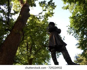 Colonel Thomas Cass Statue, Boston Public Garden, Boston, Massachusetts, USA