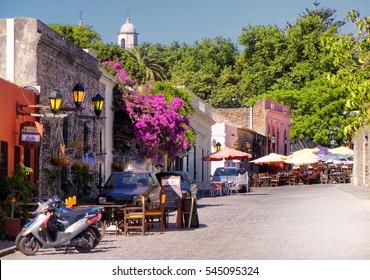 Colonia, Uruguay. Circa November 2010. View of Colonia del Sacramento historic quarter.