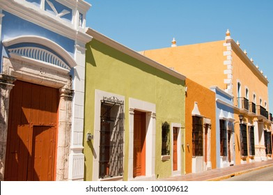 Colonial architecture in Campeche (Mexico)