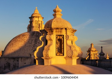 Colonial architecture in Leon city, Nicaragua