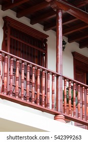 colonial balcony detail in Colombia
