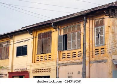 Colonial building in cambodia