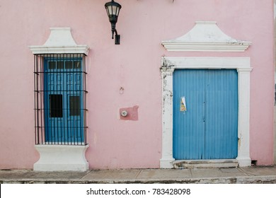 Colonial building in Campeche Mexico