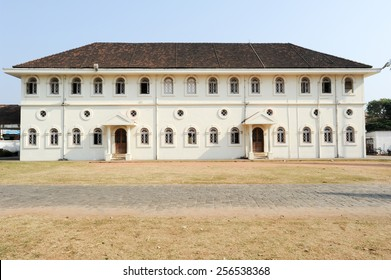 Colonial building of Fort Cochin on India