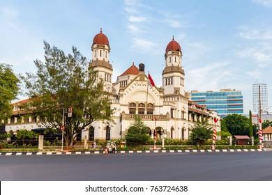 "The colonial building Lawang Sewu (""Thousand Doors"") in Semarang, Central Java, Indonesia"
