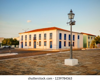 Colonial building (now the Sacred Art Museum) in the historic center of Oeiras, Brazil
