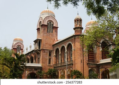 Colonial building of the University of Madras in Chennai, Tamil Nadu, India