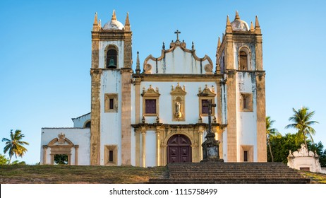 The colonial buildings of Olinda in Pernambuco, Brazil dated from the 17th on a sunny summer day.
