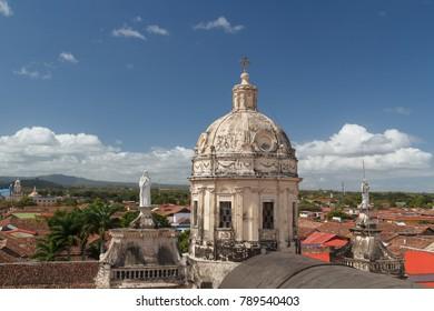 Colonial church in the historic centre of Granada, Nicaragua