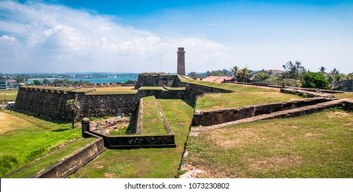 Colonial Dutch fort Galle at Sri Lanka. Galle is the largest city and port in the south of Sri Lanka the capital of the southern province and a popular tourist destination.