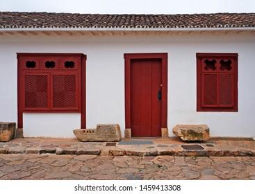 Colonial facade in Tiradentes, Minas Gerais, Brazil