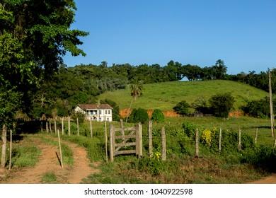 Colonial farm building in the city of Guarani, Brazil