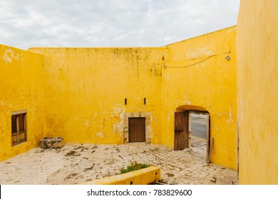 Colonial fort and city wall in Campeche Mexico