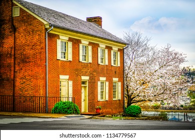 Colonial House in Spring